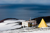 Hut and tent at Cape Crozier, Antarctica.
