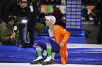 SCHAATSEN: HEERENVEEN: IJsstadion Thialf, 07-02-15, World Cup, 1000m Men Division A, winnaar Kjeld Nuis (NED), ©foto Martin de Jong