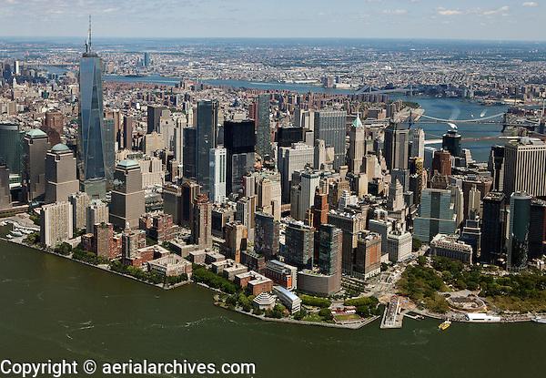 aerial photograph Lower Manhattan, New York City
