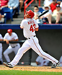 6 March 2011: Washington Nationals' outfielder Rick Ankiel in action during a Spring Training game against the Atlanta Braves at Space Coast Stadium in Viera, Florida. The Braves shut out the Nationals 5-0 in Grapefruit League action. Mandatory Credit: Ed Wolfstein Photo