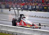 Jun 4, 2016; Epping , NH, USA; NHRA top fuel driver Doug Kalitta during qualifying for the New England Nationals at New England Dragway. Mandatory Credit: Mark J. Rebilas-USA TODAY Sports