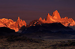 The pampas lies to the east of the pinnacles of the Andes