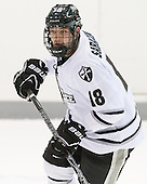 Nick Saracino (PC - 18) - The Providence College Friars tied the visiting Boston College Eagles 3-3 on Friday, December 7, 2012, at Schneider Arena in Providence, Rhode Island.