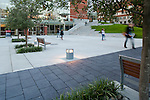 Students walking across the commons at Seattle University.