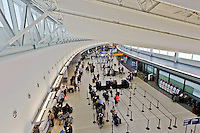 Interior, Terminal 5, designed by Gensler,  John F. Kennedy International Airport, Queens, New York City, New York, USA