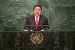Mongolia<br /> H.E. Mr. Elbegdorj Tsakhia<br /> President<br /> <br /> General Assembly Seventy-first session: Opening of the General Debate 71 United Nations, New York