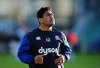 Ben Tapuai of Bath Rugby looks on during the pre-match warm-up. Aviva Premiership match, between Harlequins and Bath Rugby on November 27, 2016 at the Twickenham Stoop in London, England. Photo by: Patrick Khachfe / Onside Images