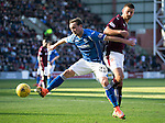 Hearts v St Johnstone&hellip;19.03.16  Tynecastle, Edinburgh<br />Chris Kane and Perry Kitchen<br />Picture by Graeme Hart.<br />Copyright Perthshire Picture Agency<br />Tel: 01738 623350  Mobile: 07990 594431