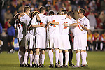 14 December 2007: Ohio State players huddle before the start of the second half. The Ohio State University Buckeyes defeated the University of Massachusetts Minutemen 1-0 at SAS Stadium in Cary, North Carolina in a NCAA Division I Mens College Cup semifinal game.