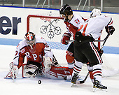 Allen York (RPI - 30), Pat Koudys (RPI - 2), Zak Stone (Northeastern - 21) - The visiting Rensselaer Polytechnic Institute Engineers tied their host, the Northeastern University Huskies, 2-2 (OT) on Friday, October 15, 2010, at Matthews Arena in Boston, MA.