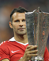 Ryan Giggs #11 of Manchester United with the MVP trophy during the 2010 MLS All-Star match against the MLS All-Stars at Reliant Stadium, on July 28 2010, in Houston, Texas. Manchester United won 5-2.