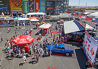 Jul 30, 2016; Sonoma, CA, USA; NHRA fans visit the Toyota Pit Pass display on the midway during qualifying for the Sonoma Nationals at Sonoma Raceway. Mandatory Credit: Mark J. Rebilas-USA TODAY Sports