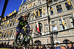 Imanol Erviti Ollo (ESP) Movistar Team on stage at sign on before the 101st edition of the Tour of Flanders 2017 running 261km from Antwerp to Oudenaarde, Flanders, Belgium. 26th March 2017.<br /> Picture: Eoin Clarke | Cyclefile<br /> <br /> <br /> All photos usage must carry mandatory copyright credit (&copy; Cyclefile | Eoin Clarke)