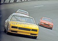 Geoff Bodine 5 action pack draft turn 4 Pepsi Firecracker 400 at Daytona International Speedway in Daytona Beach, FL on July 4, 1985. (Photo by Brian Cleary/www.bcpix.com)