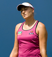 Nadia Petrova (RUS) (13) against Melanie Oudin (USA) in the 4th round. Oudin beat Petrova 1-6 7-6 6-3 ..International Tennis - US Open - Day 8 Mon 07 Sep 2009 - USTA Billie Jean King National Tennis Center - Flushing - New York - USA ..© Frey Images, Barry House 20-22 Worple Road, London, SW19 4DH..Tel - +44 208 947 0100.Cell - +44 7843 383 012