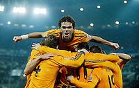 FUSSBALL   CHAMPIONS LEAGUE   SAISON 2013/2014   Vorrunde  Juventus Turin - Real Madrid     05.11.2013 JUBEL Real Madrid;<br /> Jubel zum 2-1 mit v.l.: Sergio RAMOS, PEPE, Torschuetze Gareth BALE, Luka MODRIC (REAL).