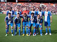 The Philadelphia Union lines up before the game at the RFK Stadium in Washington DC.  Philadelphia defeated D.C. United, 3-2.
