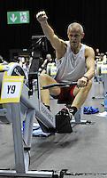 Birmingham, Great Britain, Gold medallist, Men 45-50 HWT. Andrew SANGSTER, at the 2008 British Indoor Rowing Championships, National Indoor Arena. on  Sunday 26.10.2008 . [Photo, Peter Spurrier/Intersport-images] .