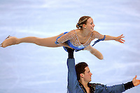 November 19, 2005; Paris, France; Figure skating stars VALERIE MARCOUX and CRAIG BUNTIN of Canada skate to bronze in pairs at Trophee Eric Bompard, ISU Paris Grand Prix competition.  They are one of the pairs favorites for medals leading up to Torino 2006 Olympics.<br />