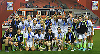Houston, TX. - February 21, 2016: The U.S. Women's National team beat Canada 2-0 to win the 2016 Women's Olympic Qualifying Championship match at BBVA Compass Stadium.