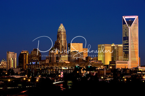 Photo: Charlotte NC skyline at dusk