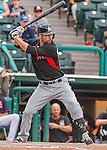 19 March 2015: Miami Marlins infielder Scott Sizemore in Spring Training action against the Atlanta Braves at Champion Stadium in the ESPN Wide World of Sports Complex in Kissimmee, Florida. The Braves defeated the Marlins 6-3 in Grapefruit League play. Mandatory Credit: Ed Wolfstein Photo *** RAW (NEF) Image File Available ***