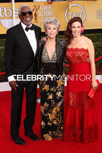 LOS ANGELES, CA - JANUARY 18: Morgan Freeman, Rita Moreno, Fernanda Luisa Gordon at the 20th Annual Screen Actors Guild Awards held at The Shrine Auditorium on January 18, 2014 in Los Angeles, California. (Photo by Xavier Collin/Celebrity Monitor)