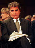 "John Walsh, host of Fox-TV's ""America's Most Wanted"" waits for his turn to testify before the United States Senate Judiciary Subcommittee considering the ""Victim's Rights"" Constitutional Amendment in Washington, D.C. on April 16, 1997..Credit: Ron Sachs / CNP"