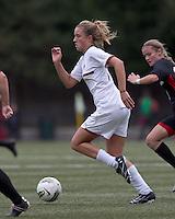 Boston College midfielder Kristen Mewis (19) on the attack. Boston College defeated North Carolina State,1-0, on Newton Campus Field, on October 23, 2011.