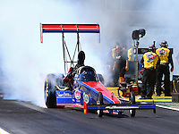 Mar 14, 2014; Gainesville, FL, USA; NHRA top fuel dragster driver Ike Maier during qualifying for the Gatornationals at Gainesville Raceway Mandatory Credit: Mark J. Rebilas-USA TODAY Sports