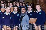 Veronica McCarron Anna Carraro, Leanora Merk, Orla O'Connor and Mara Niekerke Castleisland Presentation  Convent choir before their concert in St Stephen and John church Castleisland on Monday