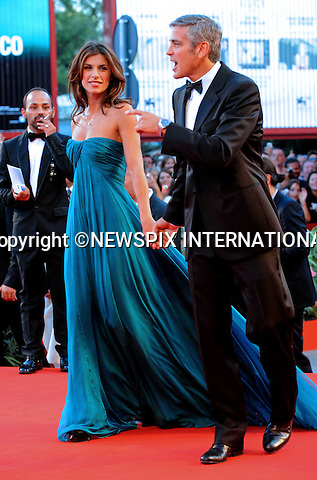 """GEORGE CLOONEY AND ELISABETTA CANALIS.""""The Men Who Stare at Goats"""" premiere at the  66th Venice Film Festival , Venice_08/09/2009.Mandatory Credit Photo: ©NEWSPIX INTERNATIONAL..**ALL FEES PAYABLE TO: """"NEWSPIX INTERNATIONAL""""**..IMMEDIATE CONFIRMATION OF USAGE REQUIRED:.Newspix International, 31 Chinnery Hill, Bishop's Stortford, ENGLAND CM23 3PS.Tel:+441279 324672  ; Fax: +441279656877.Mobile:  07775681153.e-mail: info@newspixinternational.co.uk"""