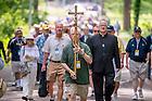 June 5, 2015; Pilgrimage to Fr. Hesburgh's grave, Reunion 2015. (Photo by Matt Cashore/University of Notre Dame)