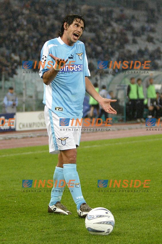 ROMA 26/11/2003 CHAMPIONS LEAGUE<br /> Lazio Besiktas 1-1 <br /> Demetrio Albertini (Lazio)<br /> Foto Andrea Staccioli Insidefoto