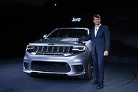 NEW YORK, NY - APRIL 12: Mike Manley, President and CEO of Jeep, stands next to the new 2018 Jeep Cherokee Trackhawk at the New York International Auto Show, at the Jacob K. Javits Convention Center on April 12, 2017 in Manhattan, New York. Photo by VIEWpress/Eduardo MunozAlvarez
