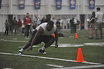 Mississippi football player Ted Laurent at Pro Day in the IPF in Oxford, Miss. on Tuesday, March 22, 2011.