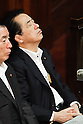 July 14th, 2011, Tokyo, Japan - Japans lame duck Prime Minsiter Naoto Kan takes his seat in the lower chamber as lawmakers begin deliberations on the government-sponsored bill for renewable energy sources in the Diet in Tokyo on Thursday, July 14, 2011. Kan, under fire over his poor handling of the March 11 earthquake and subsequent nuclear crisis, outlined his plan in a news conference Wednesday to reduce the country's reliance on nuclear power and promote renewables in the wake of the disaster at the Fukushima No. 1 nuclear power plant, some 210km northeast of Tokyo. The bill is designed to create a legal obligation for power companies to buy all electricity produced from renewable sources at a fixed price. (Photo by AFLO) [3609] -mis-..