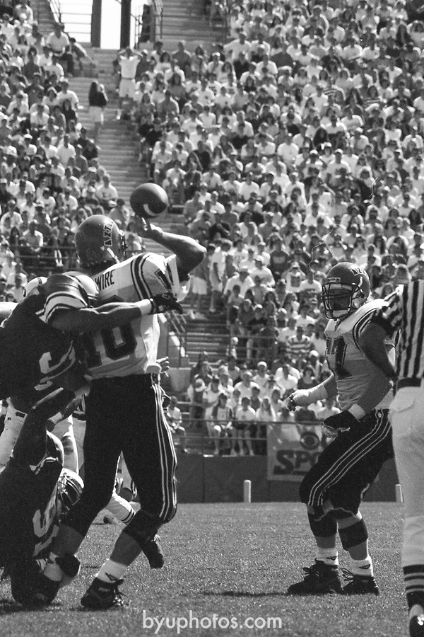 1305 L 4<br /> <br /> FTB 1305 A-T<br /> <br /> September 22, 1990<br /> <br /> Football - BYU vs. San Diego St.<br /> <br /> Mark Philbrick A-K <br /> Rick Gleason L-T<br /> <br /> BYU Photo 2017<br /> All Rights Reserved<br /> photo@byu.edu <br /> (801) 422-7322