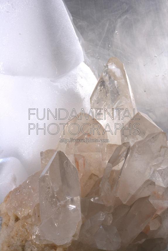 Quartz Crystal Molecular Structure science chemistry cova...