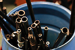 New Jersey, United States. 19th Feb, 2013. Weapons stored on a barrel are seen after being acquired during the Gun Buyback program, last weekend, in the Essex county in New Jersey. Photo by Kena Betancur / VIEWpress.