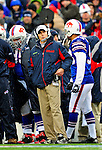 30 November 2008: Buffalo Bills' head coach Dick Jauron looks out from the sidelines during a game against the San Francisco 49ers at Ralph Wilson Stadium in Orchard Park, NY. The 49ers defeated the Bills 10-3. ***** Editorial Use Only ******..Mandatory Photo Credit: Ed Wolfstein Photo