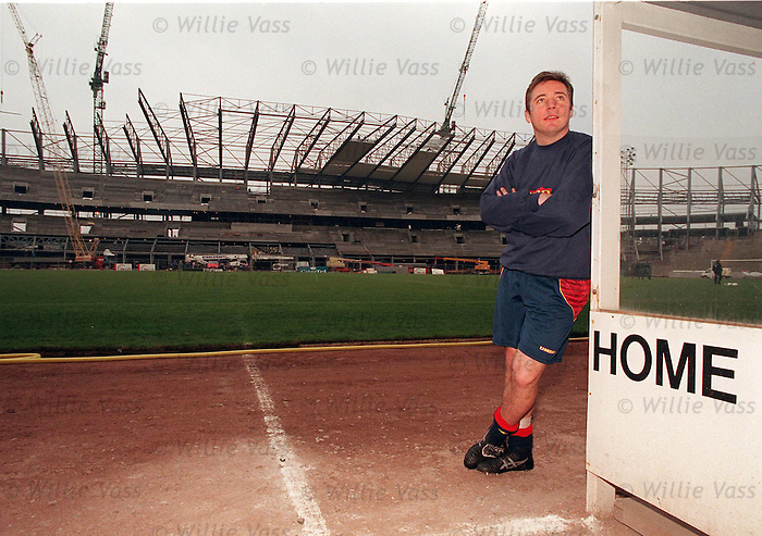 Ally McCoist on Scotland duty looking at the construction of the new Hampden