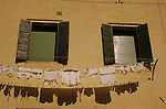 Italian building with hanging washing