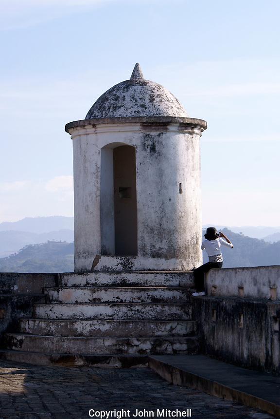 El Fuerte de San Cristobal fort in the Spanish colonial town of Gracias, Honduras.