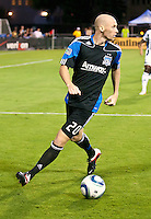 SANTA CLARA, CA – July 12, 2011: San Jose Earthquakes defender Tim Ward (20) during the match between San Jose Earthquakes and West Bromwich Albion at the Buck Shaw Stadium in Santa Clara, California. Final score San Jose Earthquakes 2, West Bromwich Albion FC 1.