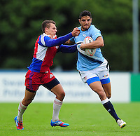 Rogelio Sanchez of Argentina in action. FISU World University Championship Rugby Sevens Men's 7th/8th/9th place play-off match between the Czech Republic and Argentina on July 9, 2016 at the Swansea University International Sports Village in Swansea, Wales. Photo by: Patrick Khachfe / Onside Images