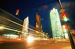 Germany, Berlin, Potsdamer Platz at night (long exposure)
