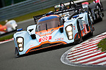 Lola Aston Martin #009 LMP1, Harold Primat-Miguel Ramos-Darren Turner, Team Aston Martin Racing, during the Qualifying Practice, here in front of the Lucchini McLaren #42 LMP2, Ranieri Randaccio-Glauco Solieri, Team Ranieri Randaccio. The Lola Aston Martin #009 did the third time of this Qualifying Practice, Saturday, May 9, 2009 in Spa-Francorchamps (Valentin Bianchi/pressphotointl.com)