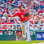 24 May 2015: Washington Nationals infielder Yunel Escobar gets the first out of the 8th inning against the Philadelphia Phillies at Nationals Park in Washington, DC. The Nationals defeated the Phillies 4-1 to take the rubber game of their 3-game weekend series. Mandatory Credit: Ed Wolfstein Photo *** RAW (NEF) Image File Available ***