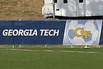 12 November 2008: Despite the fact that Georgia Tech does not field either a men's or women's soccer team, a Georgia Tech soccer ball logo is included in the tournament's signage. Boston College defeated Clemson University 1-0 in the second sudden-victory overtime period at Koka Booth Stadium at WakeMed Soccer Park in Cary, NC in a men's ACC tournament quarterfinal game.